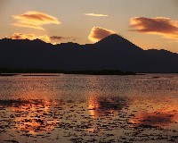 CP0889 - Golden Clouds about Croagh Patrick