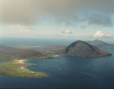 AII89 - Aerial view of Dugort, Achill